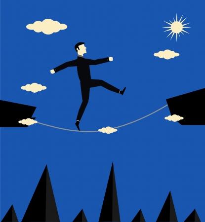 Businessman Walk Risk Stock Vector - 13896735