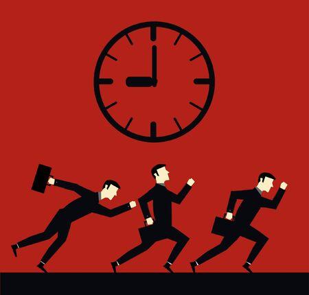 Businessman Running Time  Vector