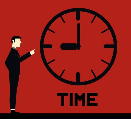 Businessman Remember Time  Vector