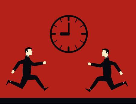 Businessman Deadline Time  Vector