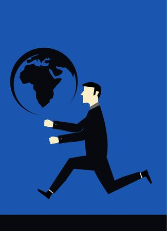Businessman bring worl Vector