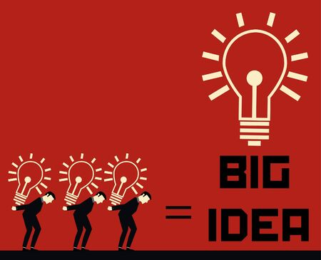 Businessman Big Idea Vector