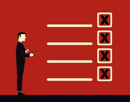 quality control: Businessman list