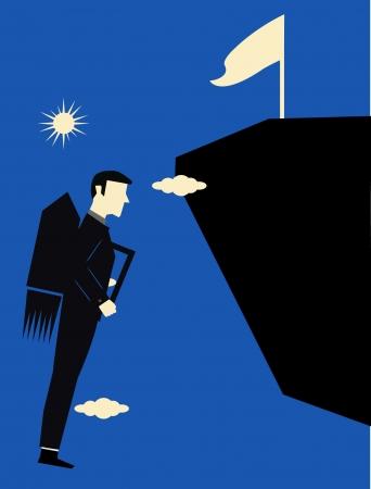 Businessman Jetpack  Illustration