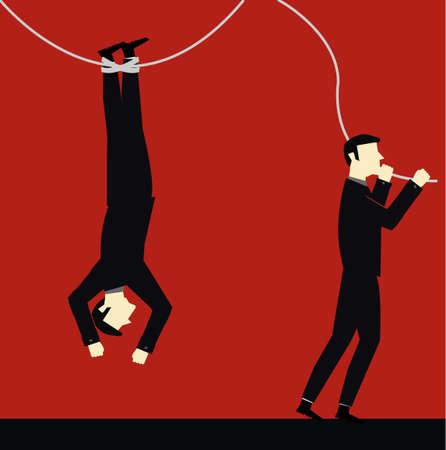 businessman risk  Illustration
