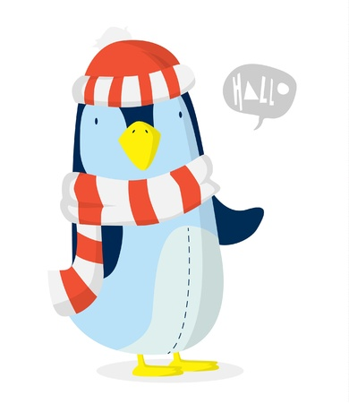 Penguin xmas Vector