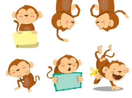 orangutang: monkey set