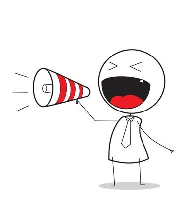voice message: megaphone promotion