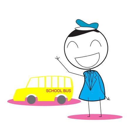 Driver School Bus Vector
