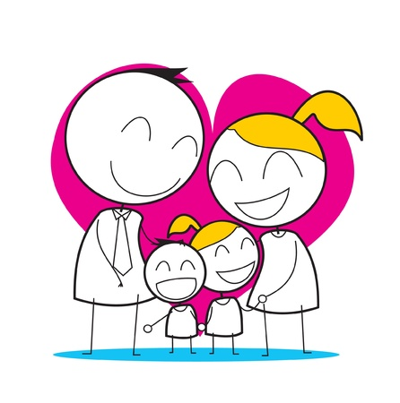 Happy Family Illustration