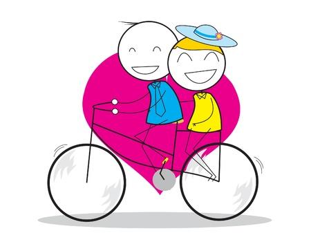 freedom couple: Couple Bicycle