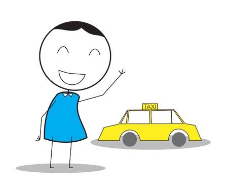 telephone salesman: Taxi Man