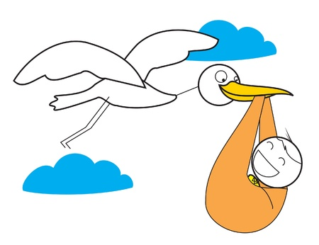 baby delivery: Crane Baby