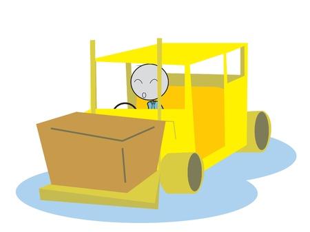man drive a Forklift Vector
