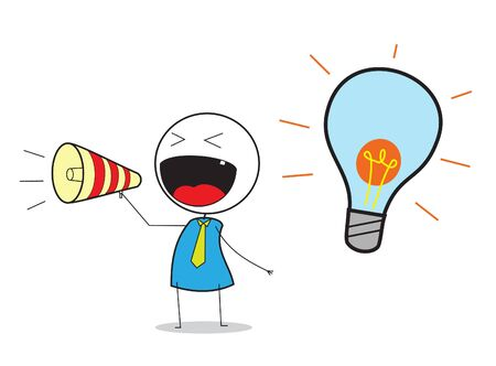 Businessman Announce Idea Vector