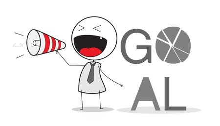 Businessman Announce Goal Stock Vector - 14653663