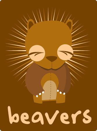 beavers Stock Vector - 14653619