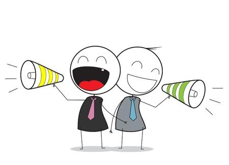 megafono: Empresario promoci�n Vectores