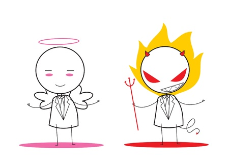 devil and angel Vector