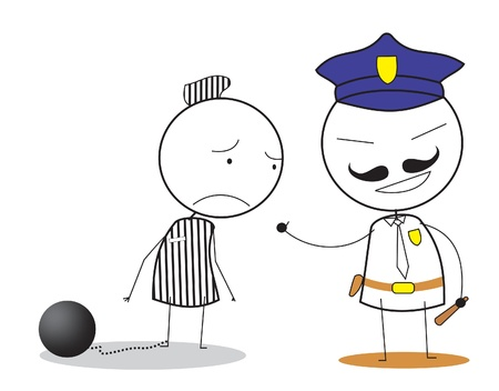 jail man Vector