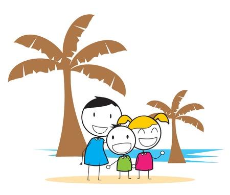 children beach party Vector