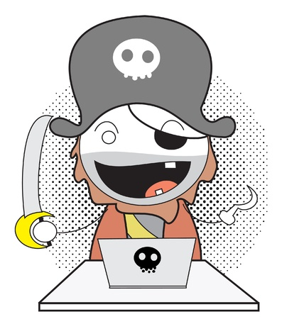 pirate computer Stock Vector - 14833175