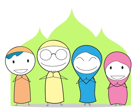 hijab: muslim family