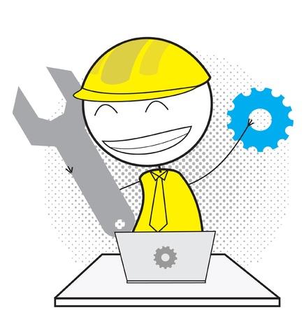 Online mechanic Stock Vector - 14833174