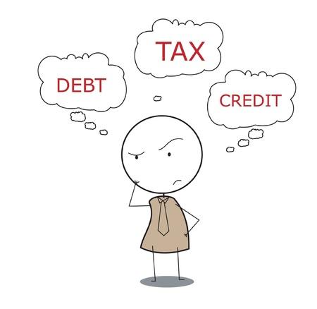 businessman tax Stock Vector - 14833535