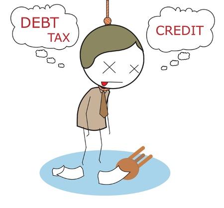 bankrupt: businessman bankrupt Illustration