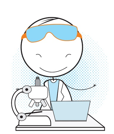 scientist computer Stock Vector - 14833448