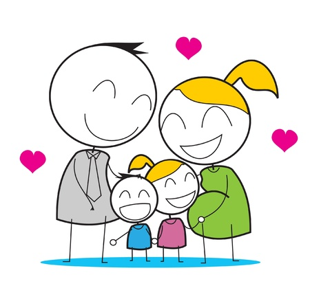 Happy Family  Stock Vector - 14833253