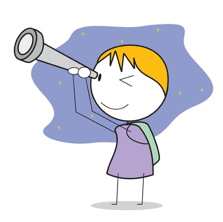 kid telescope Vector