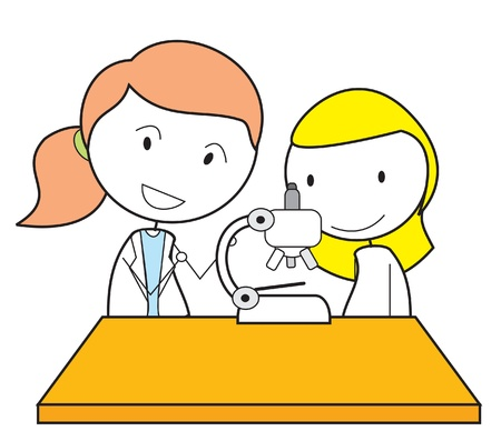 scientist woman: girl scientist