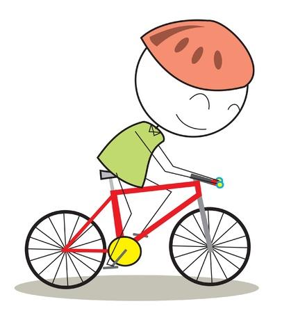zapatos caricatura: bicicleta niño