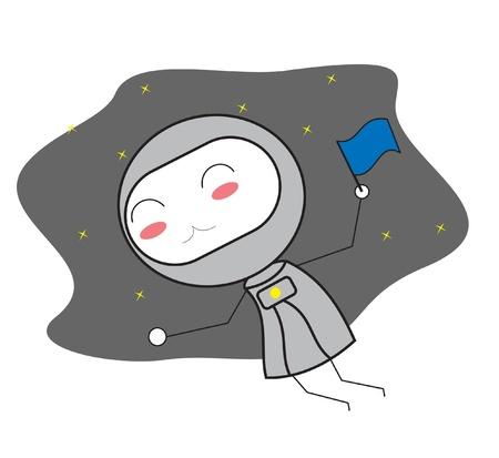kid astronauts Vector