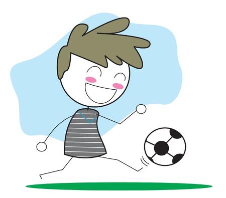 football shoes: football player Illustration