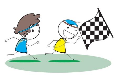 child running: kid run