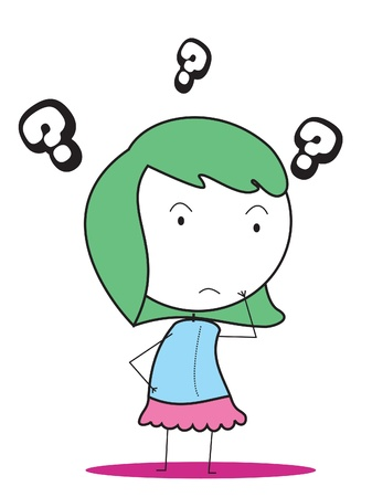 girl confused Vector