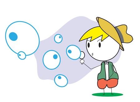blowing: kid bubble