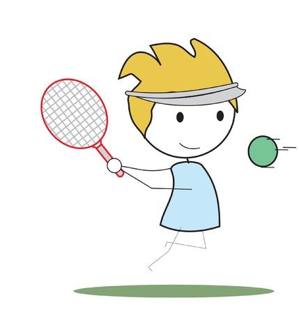 vie �tudiante: de tennis enfant Illustration