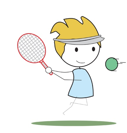 kid tennis Illustration