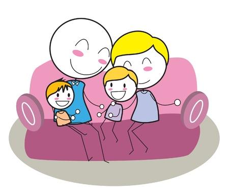 piggyback ride: happy family