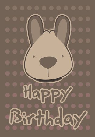 birthday card with illustration cute kangaroo Vector