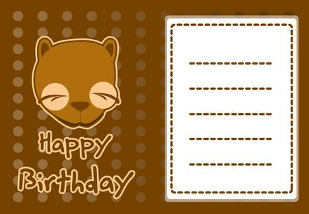 cute beaver birthday card Vector