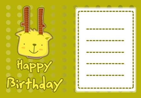 cute deer birthday card Vector