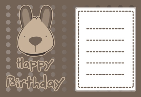 birthday card with illustration cute kangaroo Stock Vector - 15492126