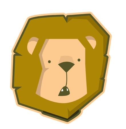 sneer: lion Illustration