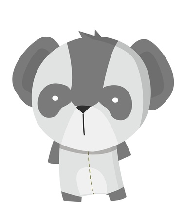 white fur: panda