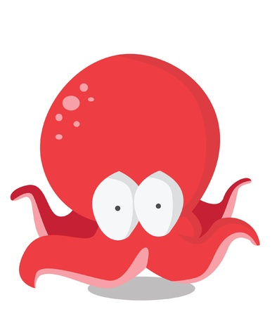 funny octopus Vector